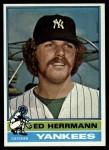 1976 Topps #406  Ed Herrmann  Front Thumbnail
