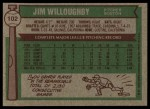 1976 Topps #102  Jim Willoughby  Back Thumbnail