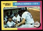 1975 Topps #462   -  Walter Alston / Joe Ferguson 1974 World Series - Game #2 Front Thumbnail