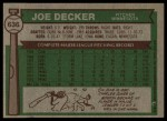 1976 Topps #636  Joe Decker  Back Thumbnail