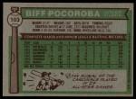 1976 Topps #103  Biff Pocoroba  Back Thumbnail