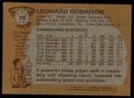 1981 Topps #35  Leonard Robinson  Back Thumbnail