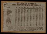 1981 Topps #44   Hawks Leaders Back Thumbnail