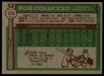 1976 Topps #333  Bob Coluccio  Back Thumbnail