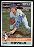 1976 Topps #43  Paul Splittorff  Front Thumbnail