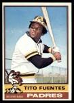 1976 Topps #8  Tito Fuentes  Front Thumbnail