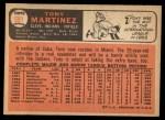1966 Topps #581  Tony Martinez  Back Thumbnail