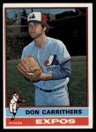 1976 Topps #312  Don Carrithers  Front Thumbnail