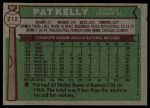 1976 Topps #212  Pat Kelly  Back Thumbnail