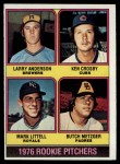 1976 Topps #593   -  Larry Anderson / Ken Crosby / Mark Littell / Butch Metzger Rookie Pitchers   Front Thumbnail