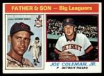 1976 Topps #68  Joe Coleman / Joe Coleman Jr.  Front Thumbnail