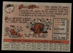 1958 Topps #84  Billy O'Dell  Back Thumbnail