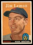 1958 Topps #15  Jim Lemon  Front Thumbnail