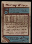 1977 Topps #69  Murray Wilson  Back Thumbnail