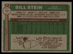 1976 Topps #131  Bill Stein  Back Thumbnail