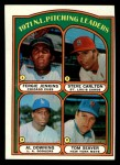 1972 Topps #93   -  Steve Carlton / Al Downing / Fergie Jenkins / Tom Seaver NL Pitching Leaders   Front Thumbnail