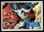 1966 Topps Batman Blue Bat Puzzle Back #38 PUZ  Beware the Batarang Front Thumbnail