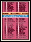 1976 Topps #643   Checklist 5 Front Thumbnail
