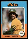 1975 Topps #21  Rollie Fingers  Front Thumbnail