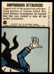 1966 Topps Batman Blue Bat Puzzle Back #10 PUZ  Amphibious Attackers Back Thumbnail