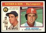 1976 Topps #67  Ray Boone / Bob Boone  Front Thumbnail