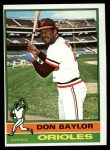1976 Topps #125  Don Baylor  Front Thumbnail