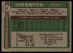 1976 Topps #94  Jim Dwyer  Back Thumbnail