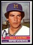 1976 Topps #293  Bill Castro  Front Thumbnail