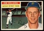 1956 Topps #338  Jim Delsing  Front Thumbnail