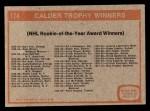 1972 Topps #174   Calder Trophy Back Thumbnail
