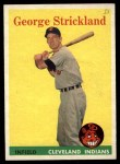 1958 Topps #102  George Strickland  Front Thumbnail