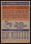 1972 Topps #130  Lou Hudson   Back Thumbnail