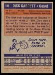1972 Topps #108  Dick Garrett   Back Thumbnail