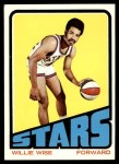 1972 Topps #185  Willie Wise   Front Thumbnail