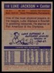 1972 Topps #118  Luke Jackson   Back Thumbnail