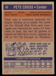 1972 Topps #49  Pete Cross   Back Thumbnail