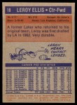 1972 Topps #18  Leroy Ellis   Back Thumbnail