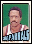 1972 Topps #190  Donnie Freeman   Front Thumbnail