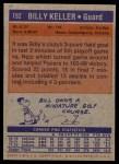 1972 Topps #192  Billy Keller   Back Thumbnail