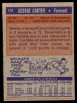 1972 Topps #197  George Carter   Back Thumbnail