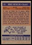 1972 Topps #128  Mike Newlin   Back Thumbnail