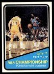 1972 Topps #154   NBA Playoffs - Game #1 Front Thumbnail