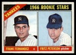 1966 Topps #584   -  Fritz Peterson / Frank Fernandez Yankees Rookies Front Thumbnail