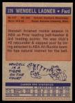1972 Topps #226  Wendell Ladner   Back Thumbnail