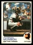 1973 Topps #142  Thurman Munson  Front Thumbnail