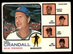 1973 Topps #646   -  Del Crandall / Harvey Kuenn / Joe Nossek / Bob Shaw / Jim Walton Brewers Leaders Front Thumbnail