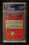 1973 Topps #308  Ken Reaves  Back Thumbnail
