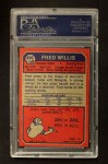 1973 Topps #396  Fred Willis  Back Thumbnail