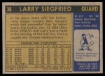 1971 Topps #36  Larry Siegfried   Back Thumbnail