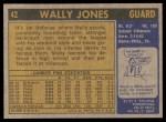 1971 Topps #42  Wally Jones   Back Thumbnail